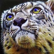 zqyjhkou Leopard head portrait/Print wild leopard