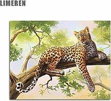 zqyjhkou Leopard tree/Print wild leopard poster on
