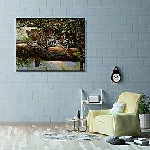 zqyjhkou Tree leopard/Print wild leopard poster on