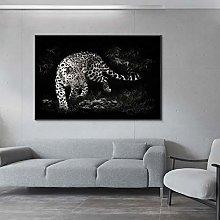 zqyjhkou Wild animal white jaguar/Print wild