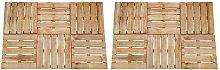 Zqyrlar - 12 pcs Decking Tiles 50x50 cm Wood Brown