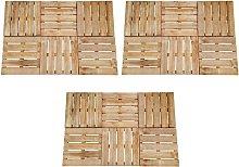 Zqyrlar - 18 pcs Decking Tiles 50x50 cm Wood Brown