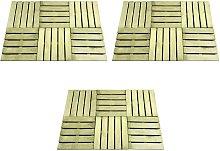 Zqyrlar - 18 pcs Decking Tiles 50x50 cm Wood Green