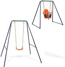 Zqyrlar - 2-in-1 Single Swing and Toddler Swing