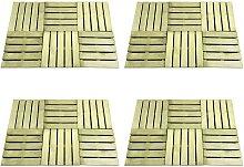 Zqyrlar - 24 pcs Decking Tiles 50x50 cm Wood Green