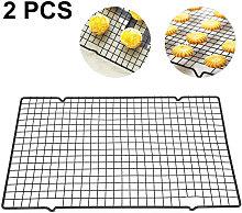 Zqyrlar - 2pcs Carbon Steel Plain Weave BBQ Net