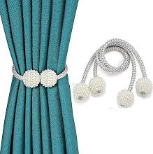 Zqyrlar - 2pcs Magnetic Curtain Tiebacks