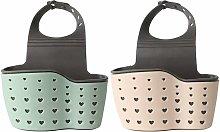 Zqyrlar - 2pcs Soap Sponge Drainer Hanging Basket