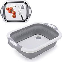 Zqyrlar - 3-in-1 Cutting Board Foldable Sink Bowl
