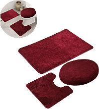 Zqyrlar - 3 piece non-slip bath mat and toilet rug