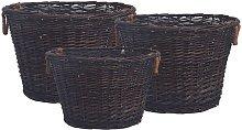 Zqyrlar - 3 Piece Stackable Firewood Basket Set