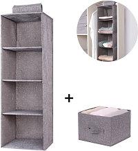 Zqyrlar - 3 Shelf Hanging Closet Organizer with 1