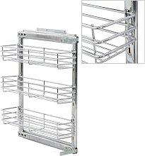 Zqyrlar - 3-Tier Pull-out Kitchen Wire Basket