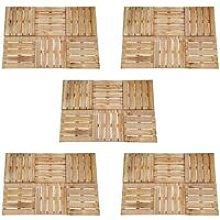 Zqyrlar - 30 pcs Decking Tiles 50x50 cm Wood Brown