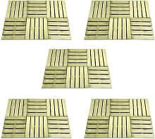 Zqyrlar - 30 pcs Decking Tiles 50x50 cm Wood Green