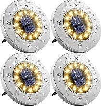 Zqyrlar - 4 pieces solar garden lights 12 LEDs