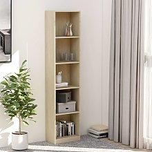 Zqyrlar - 5-Tier Book Cabinet Sonoma Oak 40x24x175