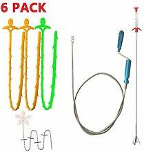 Zqyrlar - 6 drain piece drain hair cleaning set,