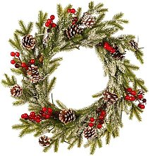 Zqyrlar - Artificial Wreath Front Door Decoration, Christmas Wreath Door Inside And Outside Ideal Christmas Deco For Stores, Offices, Christmas Tree