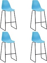 Zqyrlar - Bar Chairs 4 pcs Blue Plastic - Blue
