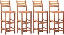 Zqyrlar - Bar Chairs 4 pcs Solid Acacia Wood -