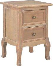 Zqyrlar - Bedside Cabinet 35x30x49 cm MDF - Brown