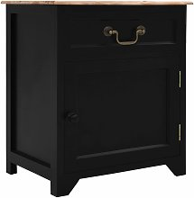 Zqyrlar - Bedside Cabinet Black and Brown 40x30x50