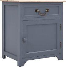 Zqyrlar - Bedside Cabinet Grey and Brown 40x30x50