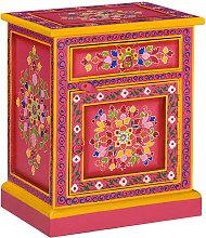 Zqyrlar - Bedside Cabinet Solid Mango Wood Pink