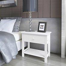 Zqyrlar - Bedside Cabinet Wood White - White