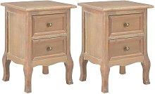 Zqyrlar - Bedside Cabinets 2 pcs 35x30x49 cm MDF -