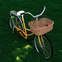 Zqyrlar - Bike Front Basket with Cover 50x45x35 cm