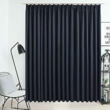 Zqyrlar - Blackout Curtain with Hooks Anthracite