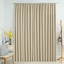 Zqyrlar - Blackout Curtain with Hooks Beige