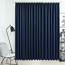 Zqyrlar - Blackout Curtain with Hooks Blue 290x245