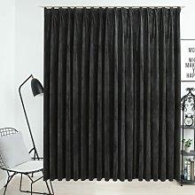 Zqyrlar - Blackout Curtain with Hooks Velvet