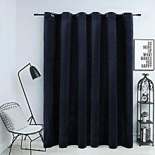 Zqyrlar - Blackout Curtain with Metal Rings Velvet