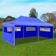 Zqyrlar - Blue Foldable Pop-up Party Tent 3 x 6 m