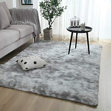 Zqyrlar - Carpet living room deep pile - fluffy shaggy carpets modern for living room, dining room, children's room, bedroom - different colors and sizes, size: 160 x 120 cm, color: gray