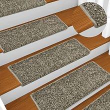 Zqyrlar - Carpet Stair Treads 15 pcs 65x25 cm Grey