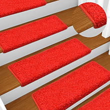 Zqyrlar - Carpet Stair Treads 15 pcs 65x25 cm Red