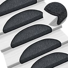 Zqyrlar - Carpet Stair Treads 15 pcs Anthracite