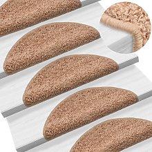 Zqyrlar - Carpet Stair Treads 15 pcs Beige 56x20