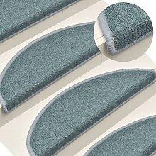 Zqyrlar - Carpet Stair Treads 15 pcs Blue 65x24x4