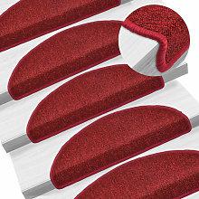 Zqyrlar - Carpet Stair Treads 15 pcs Bordeaux Red