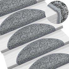 Zqyrlar - Carpet Stair Treads 15 pcs Grey 65x25 cm