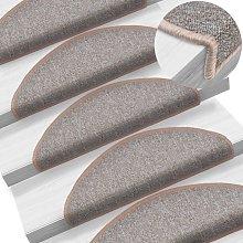 Zqyrlar - Carpet Stair Treads 15 pcs Light Brown