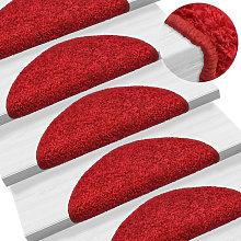Zqyrlar - Carpet Stair Treads 15 pcs Red 56x20 cm