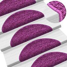 Zqyrlar - Carpet Stair Treads 15 pcs Violet 56x20