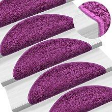 Zqyrlar - Carpet Stair Treads 15 pcs Violet 65x25